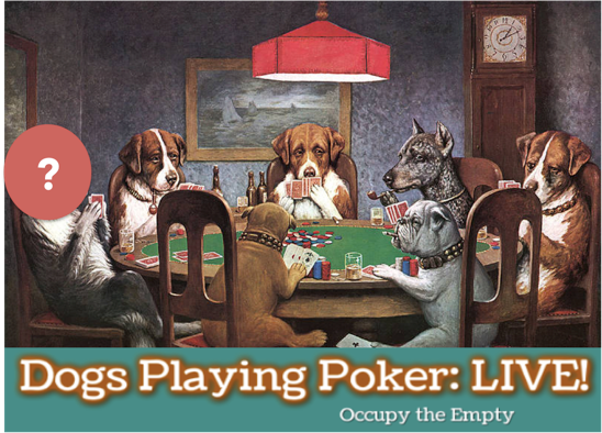 Dogs Playing Poker LIVE